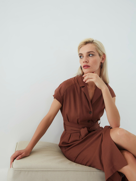 Платье изо льна - фото 7