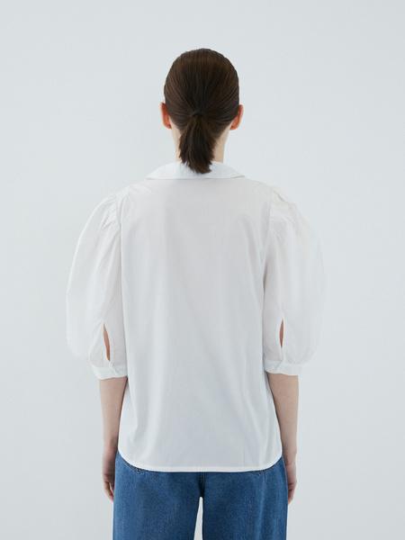 Блузка с рукавами-буфами - фото 11