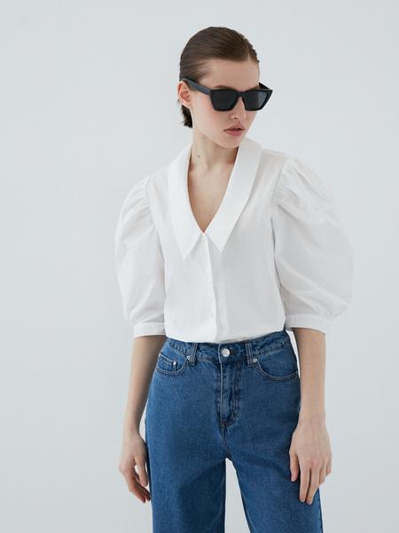 Блузка с рукавами-буфами - фото 7