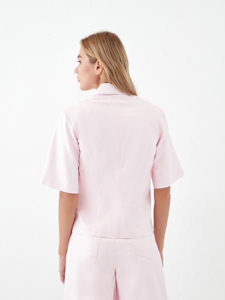 Блузка из экокожи - фото 6