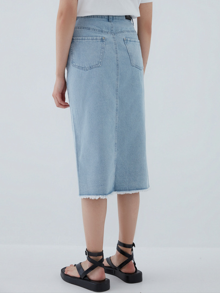 Джинсовая юбка - фото 6