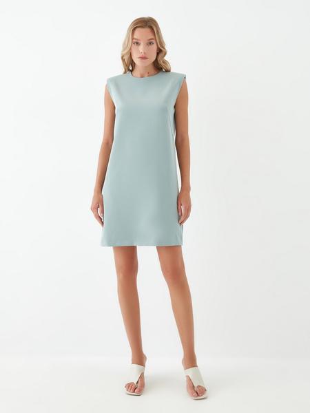Платье с подплечниками - фото 2