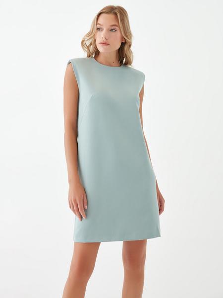 Платье с подплечниками - фото 6