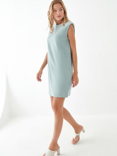 Платье с подплечниками - фото 7