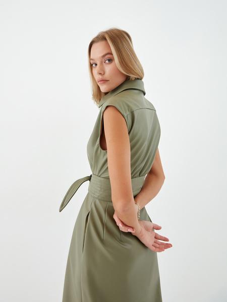 Платье из экокожи - фото 6