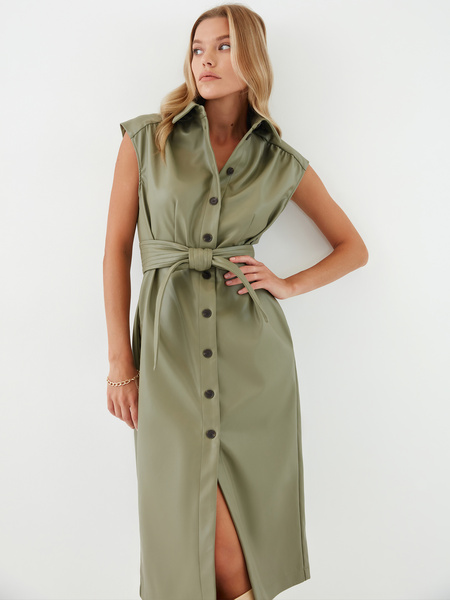 Платье из экокожи - фото 8