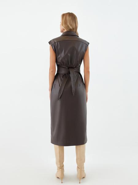 Платье из экокожи - фото 13