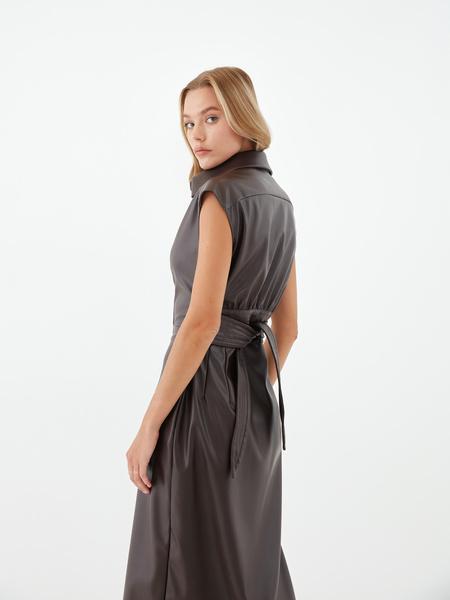 Платье из экокожи - фото 14