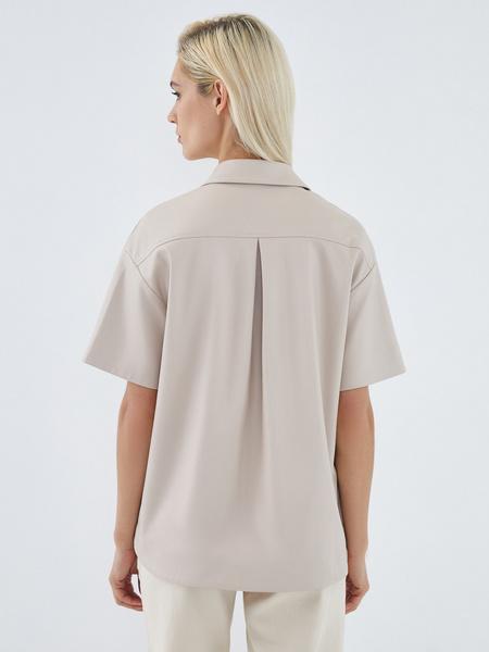 Блузка из экокожи - фото 8