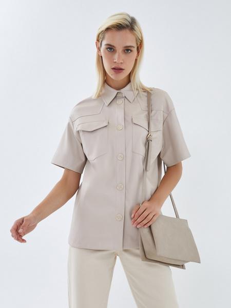 Блузка из экокожи - фото 9