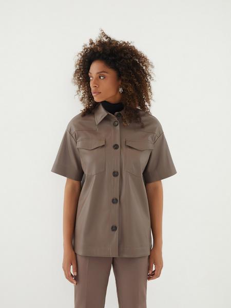 Блузка из экокожи