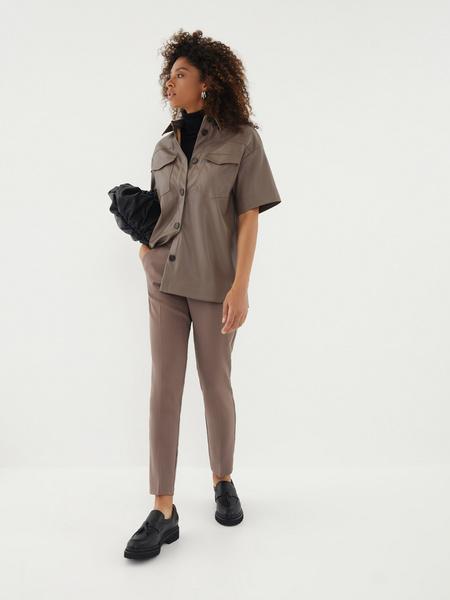 Блузка из экокожи - фото 2