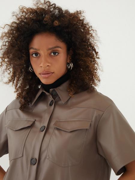 Блузка из экокожи - фото 3