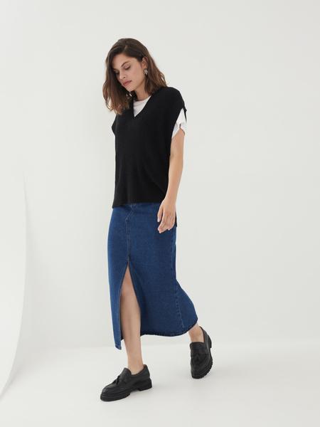 Джинсовая юбка - фото 1
