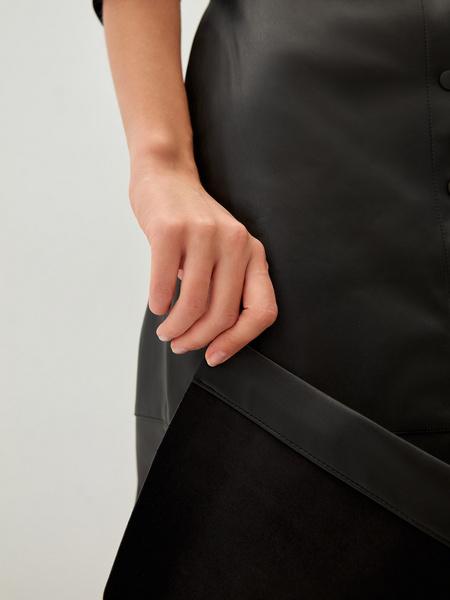 Платье из экокожи - фото 5