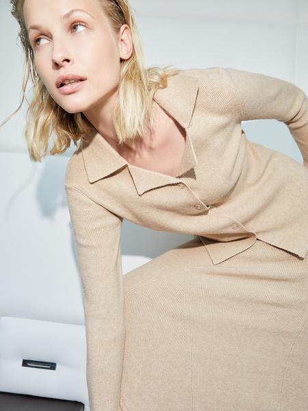 Трикотажная блузка - фото 1