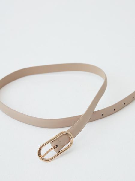 Ремень с овальной пряжкой - фото 3