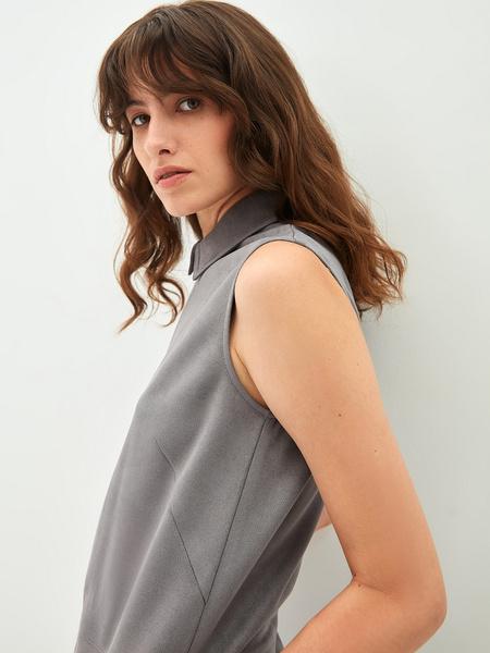 Замшевое платье - фото 3