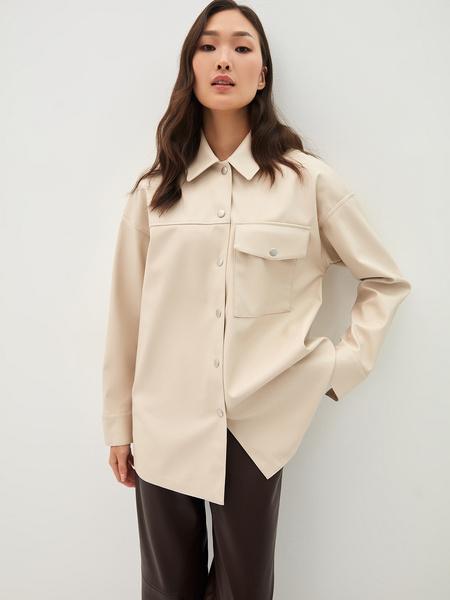 Рубашка из экокожи - фото 4