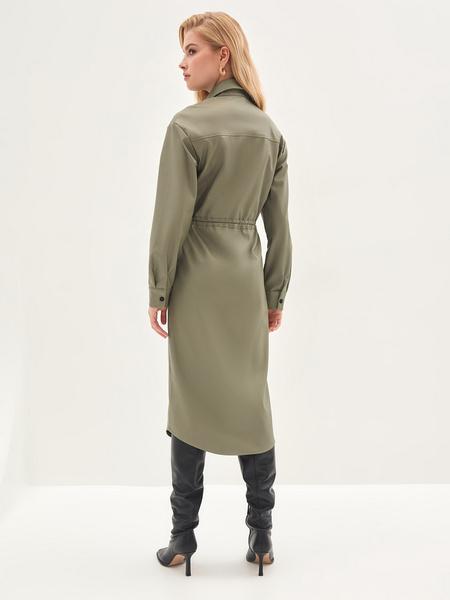 Платье из экокожи - фото 11