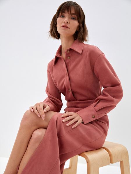 Блузка из экозамши - фото 1