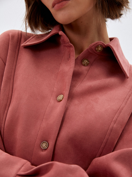 Блузка из экозамши - фото 4