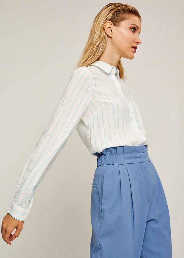 Блуза из вискозы с рукавами-фонариками - фото 1