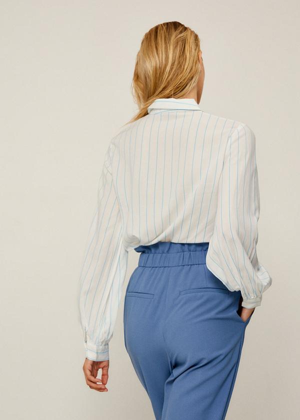 Блуза из вискозы с рукавами-фонариками - фото 3