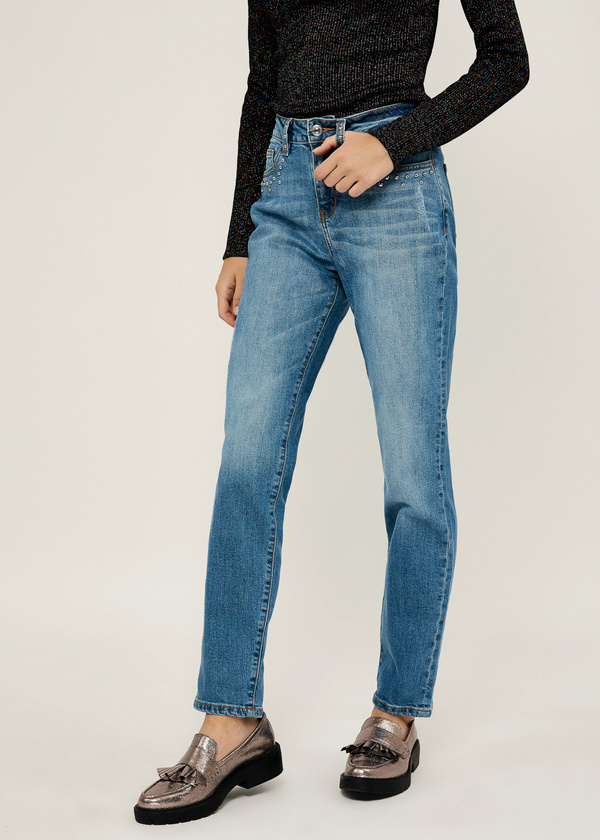 Прямые джинсы из хлопка - фото 3