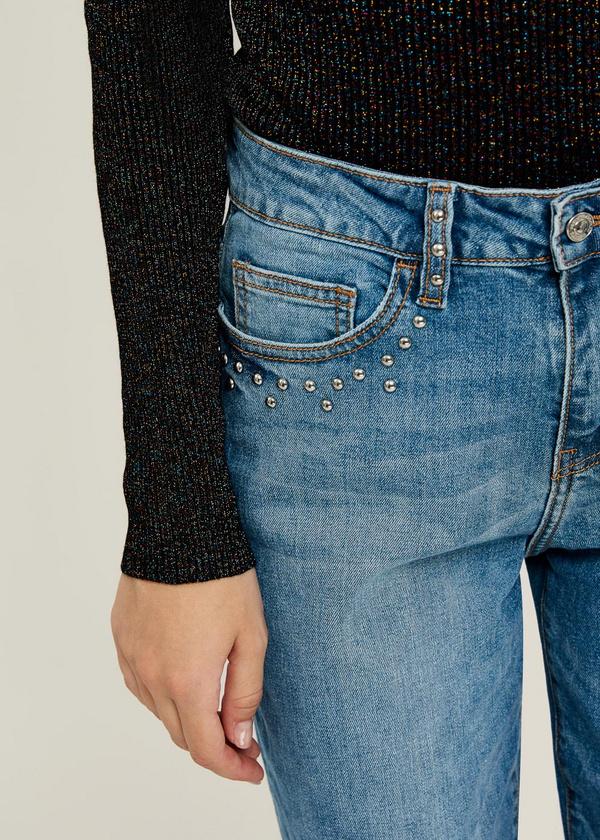 Прямые джинсы из хлопка - фото 4
