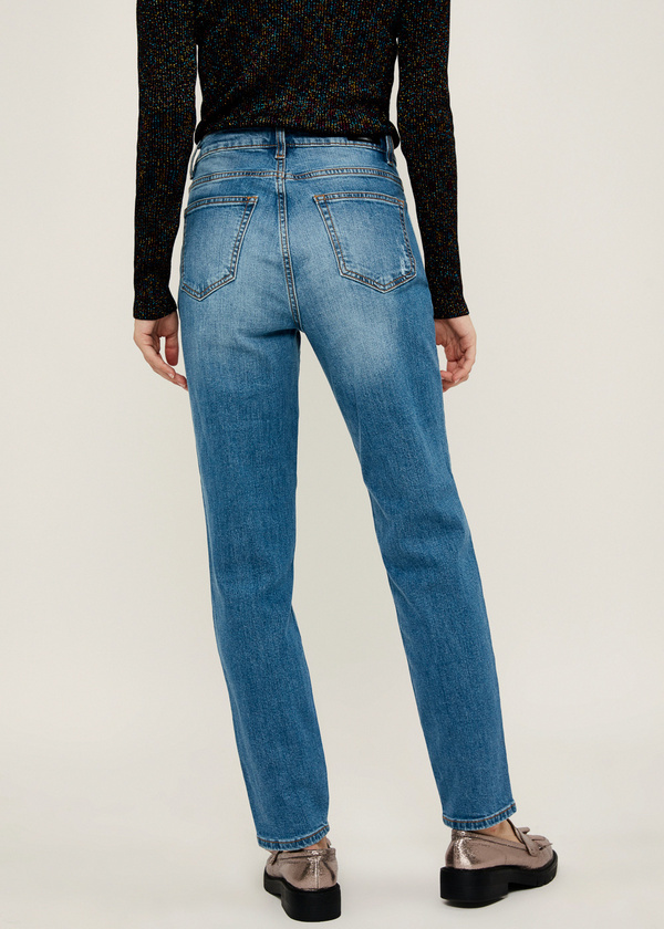 Прямые джинсы из хлопка - фото 5
