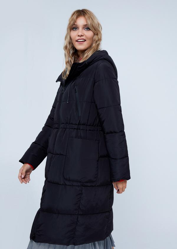 Удлиненная куртка с капюшоном - фото 2