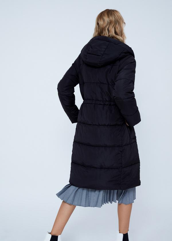 Удлиненная куртка с капюшоном - фото 3