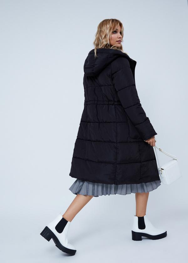 Удлиненная куртка с капюшоном - фото 4