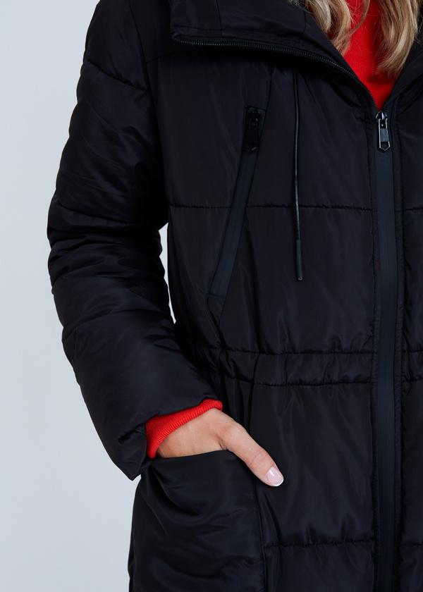 Удлиненная куртка с капюшоном - фото 5