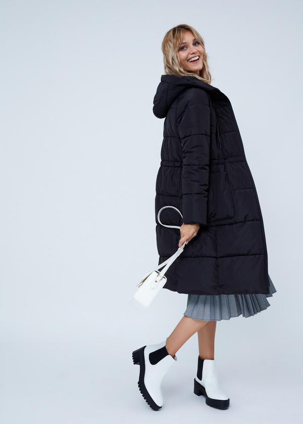 Удлиненная куртка с капюшоном - фото 7