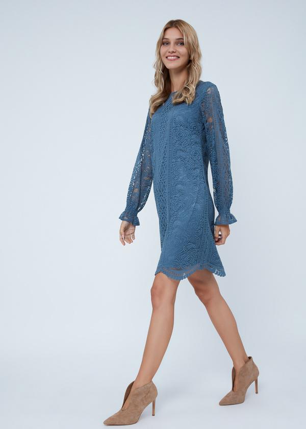 Кружевное платье-миди - фото 1