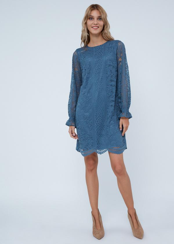 Кружевное платье-миди - фото 2