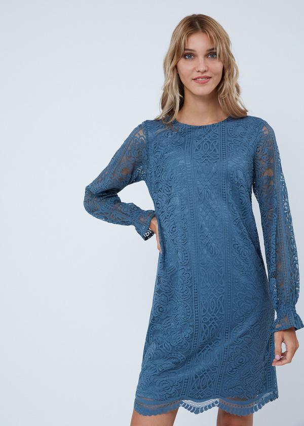 Кружевное платье-миди - фото 3