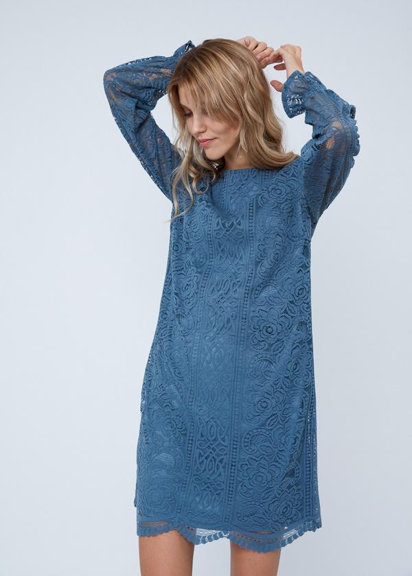 Кружевное платье-миди - фото 4