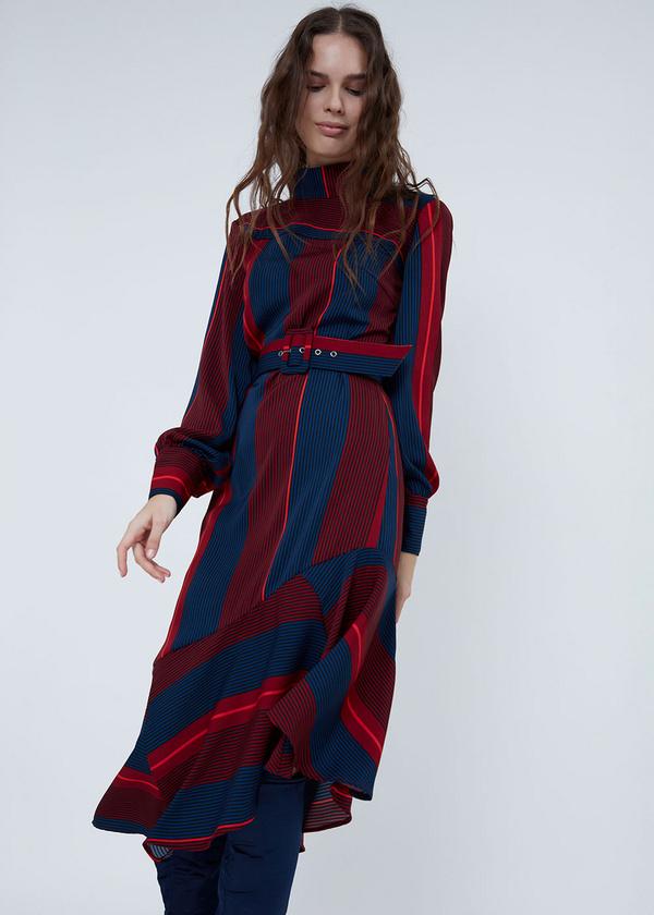 Платье с воротником-стойкой - фото 3