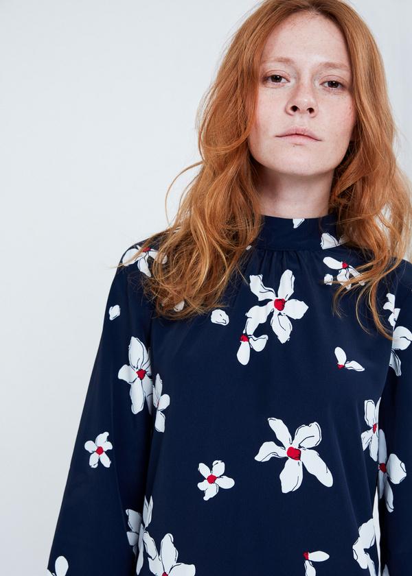 Платье цветочный принт с завязками на спине - фото 2