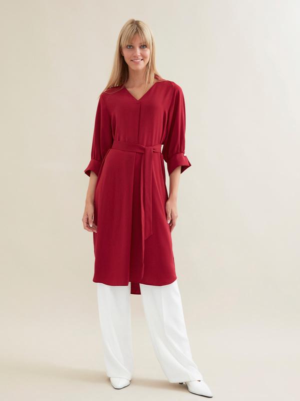 Платье с ажурной вставкой и запонками под жемчуг - фото 4