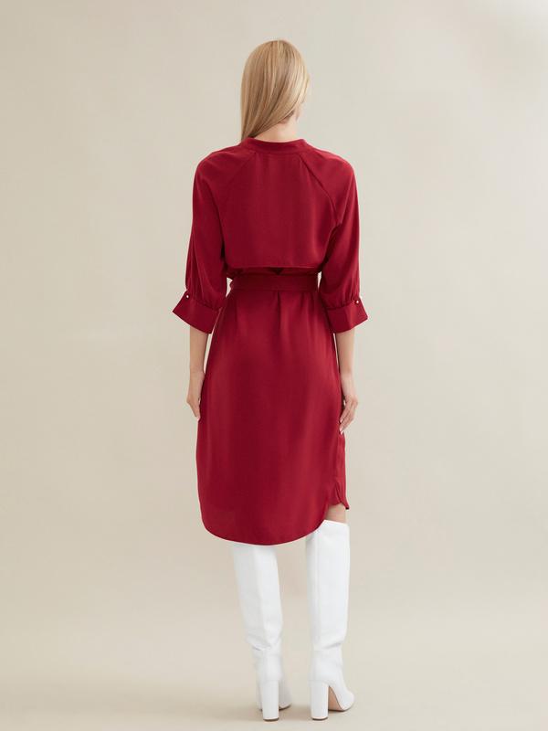 Платье с ажурной вставкой и запонками под жемчуг - фото 5