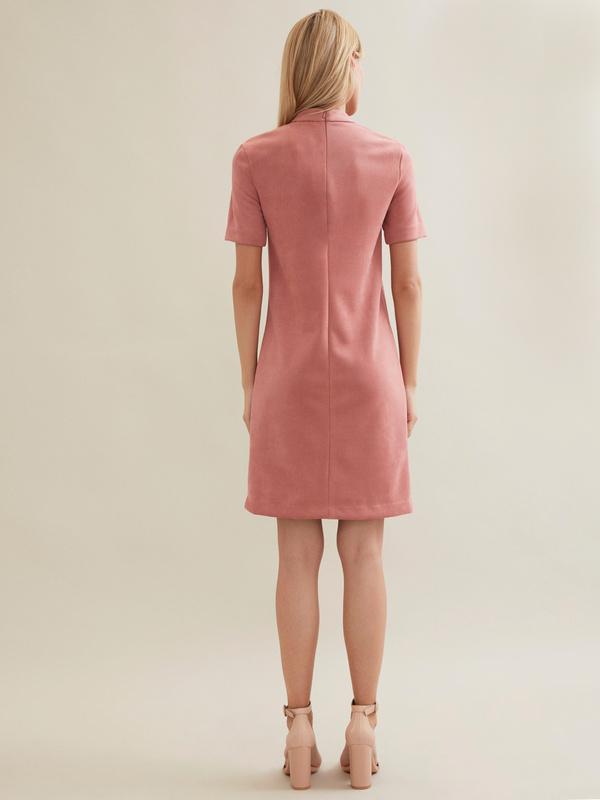 Замшевое платье-мини с чокером - фото 5