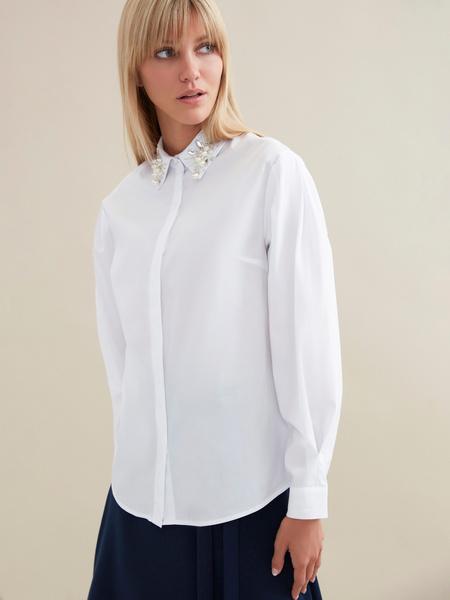 Блузка с рукавами-фонариками - фото 3
