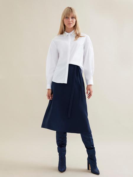 Блузка с рукавами-фонариками - фото 5