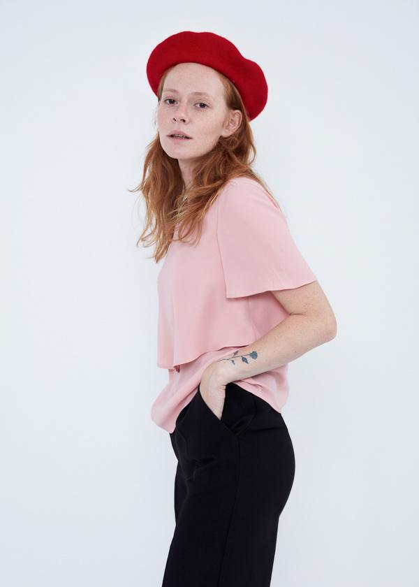 Блуза с декорированной горловиной - фото 5