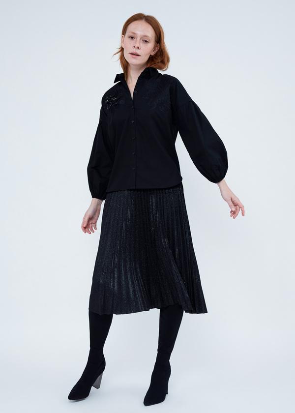 Блузка с декорированной вышивкой - фото 6