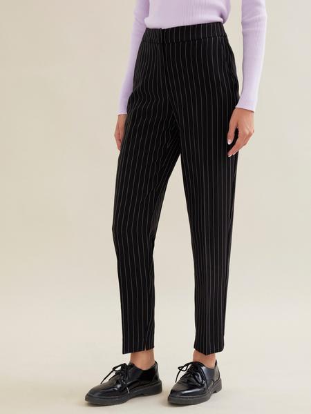 Зауженные брюки в полоску - фото 3